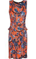 Matthew Williamson Printed Stretchscuba Jersey Peplum Mini Dress - Lyst
