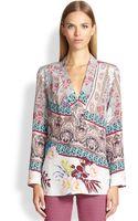Etro Paisley-print Silk Blouse - Lyst