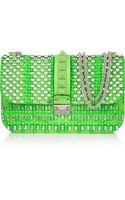 Valentino Glam Lock Embellished Leather Shoulder Bag - Lyst