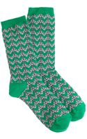 J.Crew Dotted Chevron Trouser Socks - Lyst