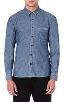 Stone Island Chambray Shirt - Lyst