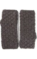 Dolce & Gabbana Fingerless Mitten Gloves - Lyst
