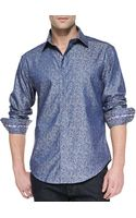 Robert Graham Massimo Tailoredfit Sport Shirt Blue - Lyst