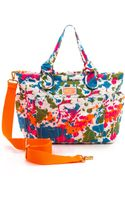 Marc By Marc Jacobs Pretty Nylon Paint Blob Elizababy Bag Orange Multi - Lyst