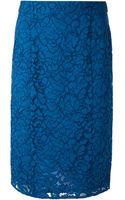 Joseph Sixty Lace Pencil Skirt - Lyst