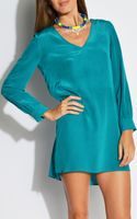 Amanda Uprichard V Neck Dress - Lyst