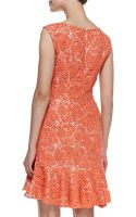 Erin Erin Fetherston Sleeveless Crocheted Lace Dress Electric Guava - Lyst