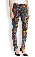 Alice + Olivia Jewel Print Skinny Jeans - Lyst