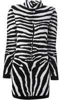 Balmain Zebra Print Dress - Lyst