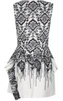 McQ by Alexander McQueen Printed Peplum Dress - Lyst