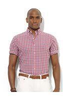 Polo Ralph Lauren Polo Customfit Shortsleeved Plaid Poplin Sport Shirt - Lyst