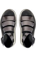 Dr. Martens Pewter Shore Clarissa Chunky Strap Sandals - Lyst