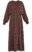 Saint Laurent Paisley-print Silk-chiffon Dress - Lyst