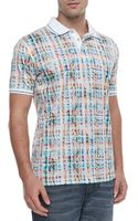 Robert Graham Lookame Plaid Paisley Polo White - Lyst