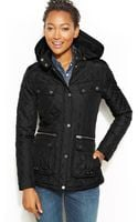 Tommy Hilfiger Quilted Hooded Puffer Jacket - Lyst