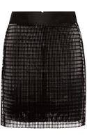Antonio Berardi Flocked Airtex Mini Skirt - Lyst