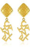 Vintage Jewelry Vintage Chanel Gold Drop Earrings - Lyst