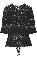 Isabel Marant Largo Crocheted Cotton Top - Lyst