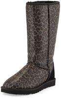 Ugg Glitter Leopard-print Classic Tall Boot - Lyst