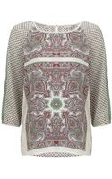 Maison Scotch Scarf Inspired Print Blouse - Lyst
