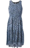 Proenza Schouler Flared Printed Dress - Lyst
