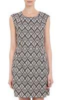 Barneys New York Abstract Diamondprint Sleeveless Sheath Dress - Lyst