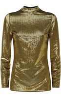 Saint Laurent Sequin Blouse - Lyst