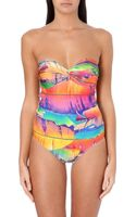 Agua De Coco Tropical Leaf-print Swimsuit - Lyst