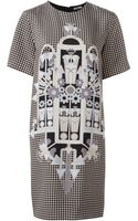 Holly Fulton Houndstooth Printed Dress - Lyst