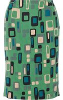 M Missoni Printed Silk Skirt - Lyst