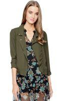Ella Moss Stella Moto Shirt Jacket - Lyst