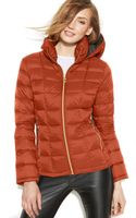 Michael Kors Michael Hooded Down Packable Coat - Lyst