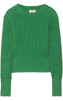 Acne Studios Lia Chunkyknit Cotton Sweater - Lyst