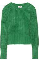 Acne Studios Lia Chunkyknit Cotton Sweater - Lyst