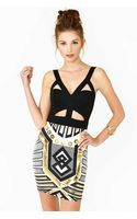 Nasty Gal Metal Future Dress - Lyst