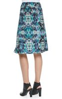 Nanette Lepore Foul Play Pleated Floralprint Skirt - Lyst