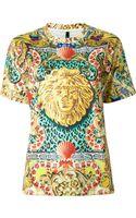 Versus  Ornate Print T-shirt - Lyst