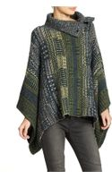 Free People Knit Poncho - Lyst