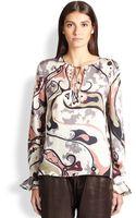 Emilio Pucci Printed Silk Blouse - Lyst