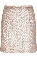 River Island Gold Sequin Mini Skirt - Lyst