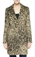 Smythe Fuzzy Leopardprint Lab Coat - Lyst