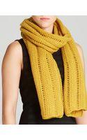 Eileen Fisher Open Knit Scarf - Lyst