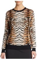 Torn By Ronny Kobo Shauna Tiger Knit Sweater - Lyst