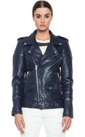 BLK DNM Iconic Leather Motorcycle Jacket - Lyst