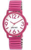 Nine West Ladies Magenta Watch with Expansion Bracelet - Lyst