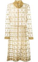Simone Rocha Metallic Flower Embroidered Tulle Dress - Lyst