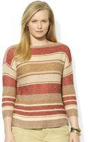 Lauren by Ralph Lauren Plus Stripe Knit Sweater - Lyst