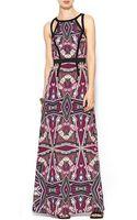 Sabine Lunaria Mirror Print Maxi Dress - Lyst
