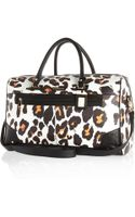 River Island White Leopard Print Weekend Bag - Lyst