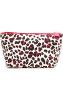 Tory Burch Printed Nylon Trapeze Cosmetic Case - Snow Leopardcarnation Red - Lyst